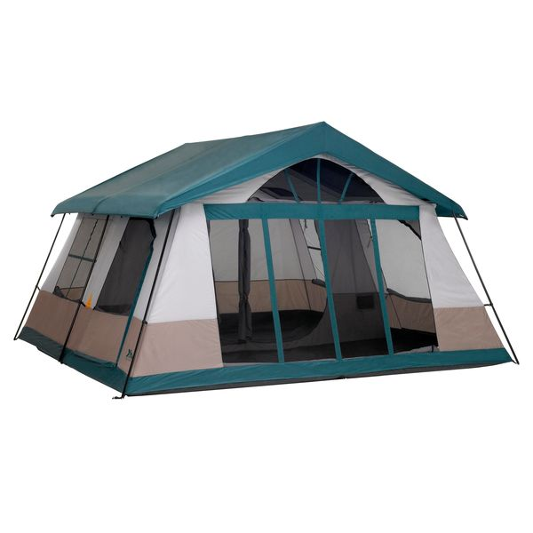 14x14' 10-Person 2-Room Cabin Camping Tent with Screened Porch for Rent in Richmond, VA