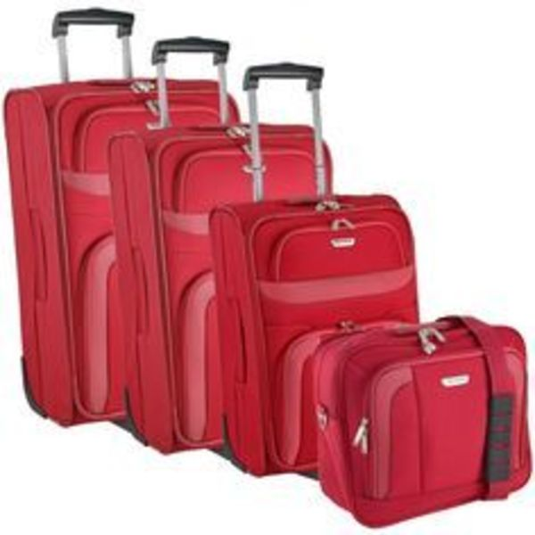 4 Piece Red Wheeled Luggage Set (XL, L, S, XS) for Rent in Richmond, VA