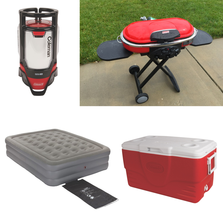 Camping Essentials Set: Grill, Cooler, Lantern & Air Mattress for Rent in Richmond, VA