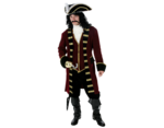 Thumb delux captain hook costume rent